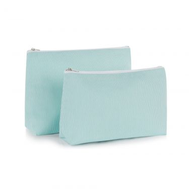Green Pique Wash Bag & Cosmetic Bag