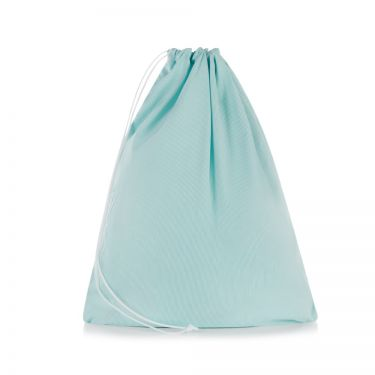 Green Pique Drawstring Bag
