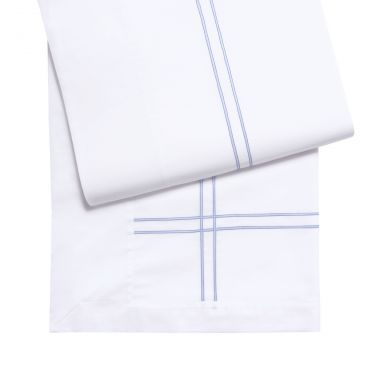 Yves Delorme Couture Duetto Lavande Cotton Voile Flat Sheets