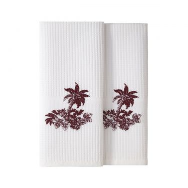 Yves Delorme Pour Toujours Set of Two Guest Towels