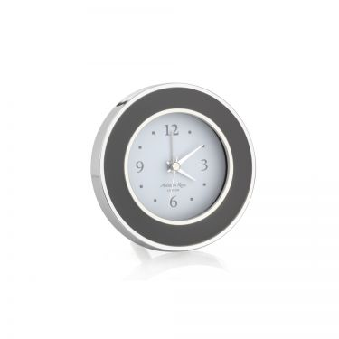 Taupe Enamel alarm Clock