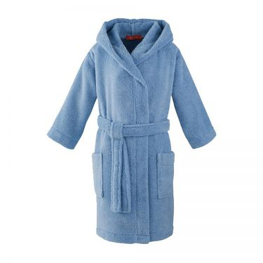 Children's Blue Hooded Robe