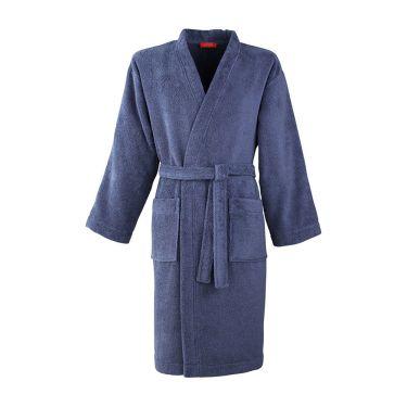 Men's Slate Blue Towelling Kimono