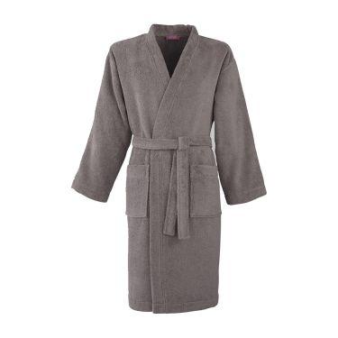 Men's Taupe Towelling Kimono