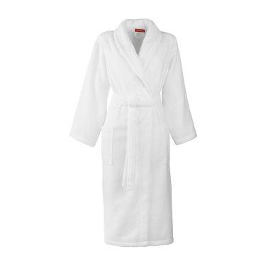 Women's White Shawl Collar Towelling Robe