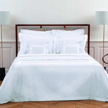 Yves Delorme Couture Diademe Blanc 500 Thread Count Duvet Covers