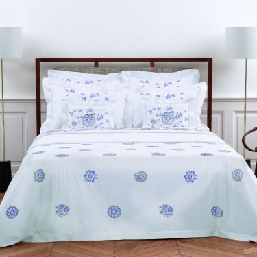 Yves Delorme Delft Cotton Sateen 500 Thread Count Duvet Covers
