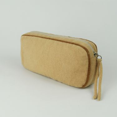 Small Cashmere Travel Bag Beige and Tan