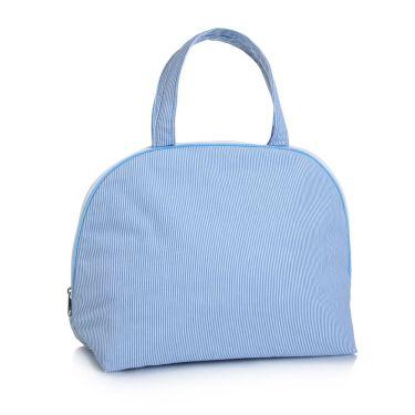 Blue Pique Handled Bag