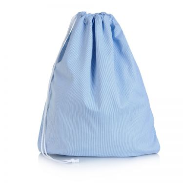 Blue Pique Drawstring Bag