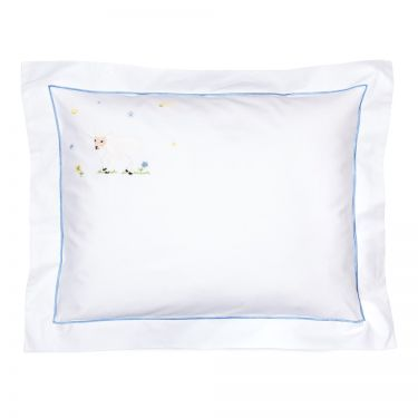 Baby Pillowcase Blue Lamb (pillow sold separately)