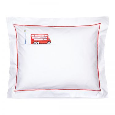 Baby Pillowcase London Bus (pillow sold separately)
