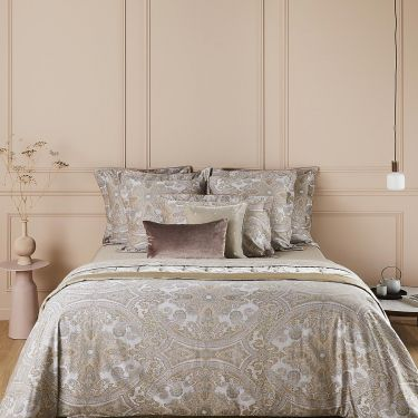 Yves Delorme Cachemire Cotton Sateen 300 thread Count Duvet Covers