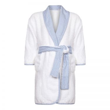 Little Prince Shawl Collar Blue Bathrobe
