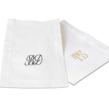 Classic Cocktail Napkin Linen Hemstitch