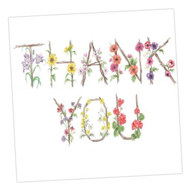 Floral Greeting Card - Thank You