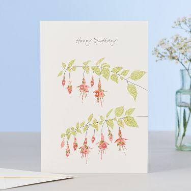 Fuchsia Happy Birthday Card