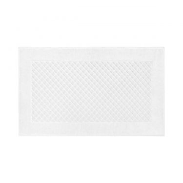 Yves Delorme Egyptian Cotton Modal Etoile Blanc / White Bath Mat