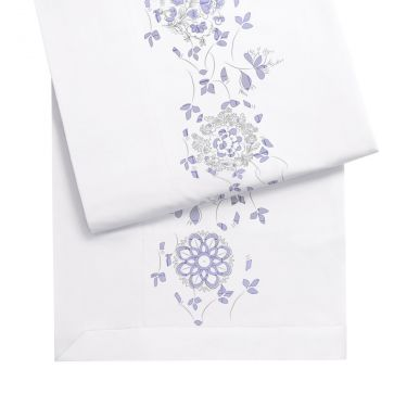 Yves Delorme Delft Cotton Sateen Flat Sheets 500 Thread Count