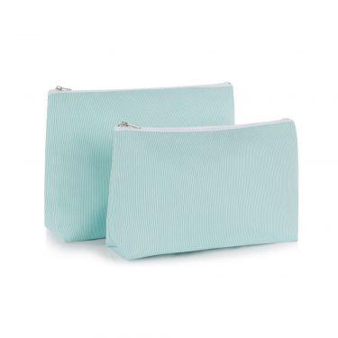 Green Pique Cosmetic Bag (small)