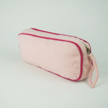 Small Cashmere Travel Bag Light Pink and Pink