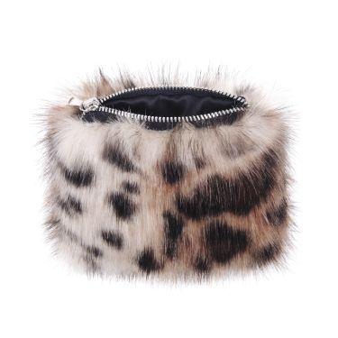 Ocelot Faux Fur Coin Purse