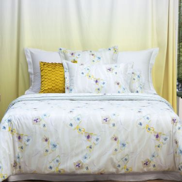 Yves Delorme Ondée Cotton Percale 200 Thread Count Duvet Covers
