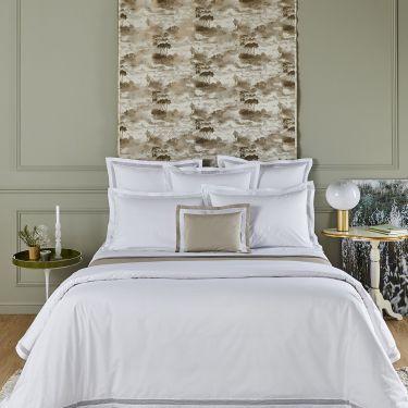 Yves Delorme Oriane Cotton Percale 500 Thread Duvet Covers