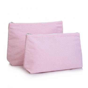 Pink Pique Wash Bag & Cosmetic Bag