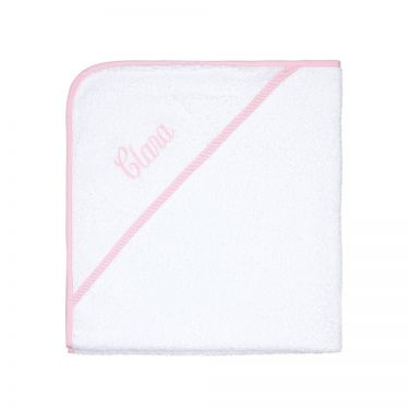 Hooded Baby Towel Pink