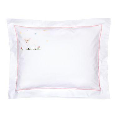 Baby Pillowcase Pink Lamb (pillow sold separately)