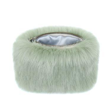 Pistachio Green Faux Fur Coin Purse
