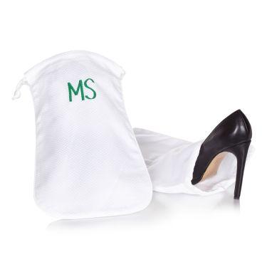 White Pique Pair of Shoe Bags