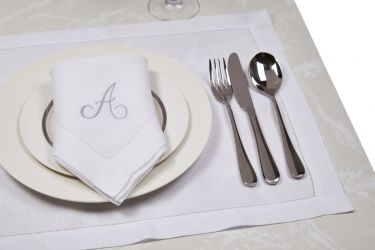 Classic Rectangular Placemat Linen Hemstitch