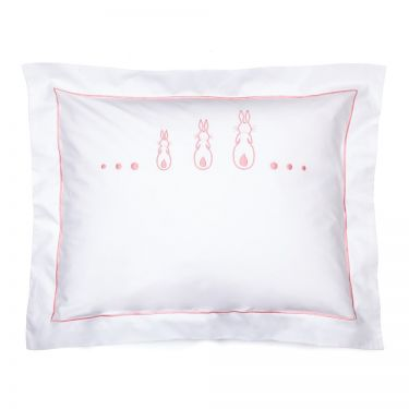 Baby Pillowcase Three Pink Bunnies (pillow sold separately)