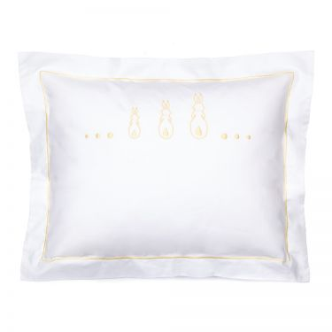 Baby Pillowcase Three Yellow Bunnies (pillow sold separately)