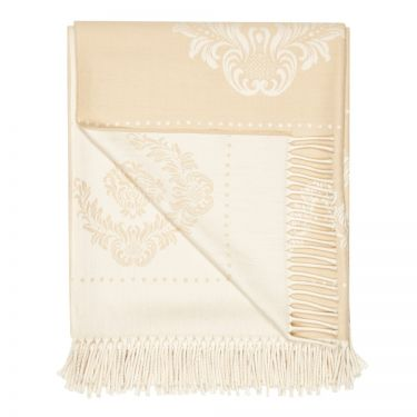 Torcello Beige Wool Throw