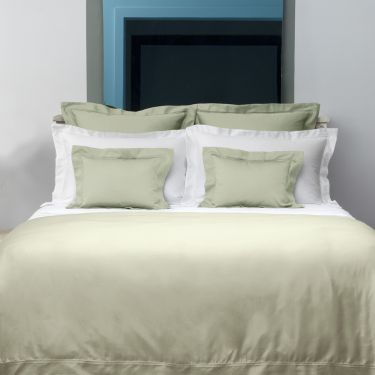 Yves Delorme Triomphe Sauge Cotton Sateen 300 Thread Count Duvet Covers