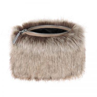 Truffle Faux Fur Coin Purse