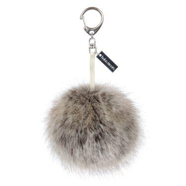 Truffle Faux Fur Pom-Pom Key Ring