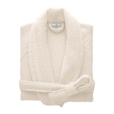Yves Delorme Egyptian Cotton Modal Etoile Nacre / Cream Bath Robes