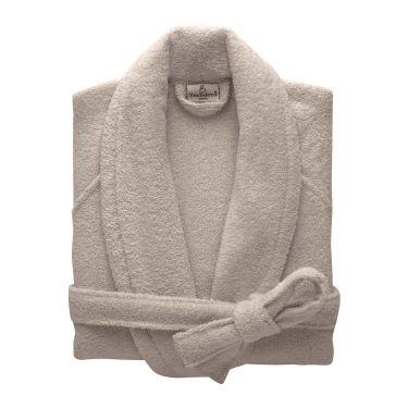 Yves Delorme Egyptian Cotton Modal Etoile Pierre / Stone Bath Robes