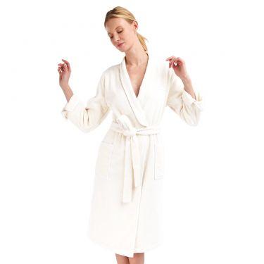 Yves Delorme Couture Adagio Blanc Bath Robes