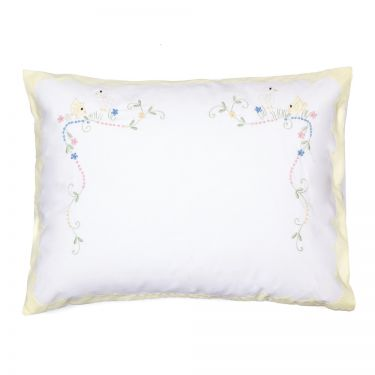 Baby Pillowcase Yellow Chicks (pillow sold separately)