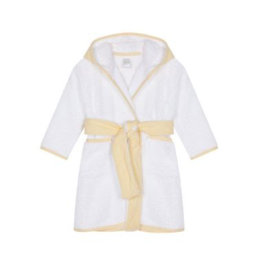 Hooded Yellow Bathrobe
