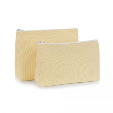 Yellow Pique Cosmetic Bag (small)