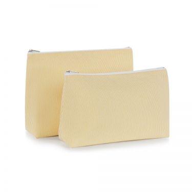 Yellow Pique Wash Bag (large)