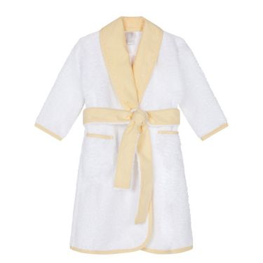 Shawl Collar Yellow Bathrobe