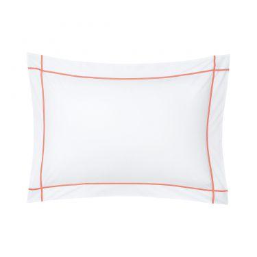 Yves Delorme Athena Peche Cotton Percale 500 Thread Count Pillowcases