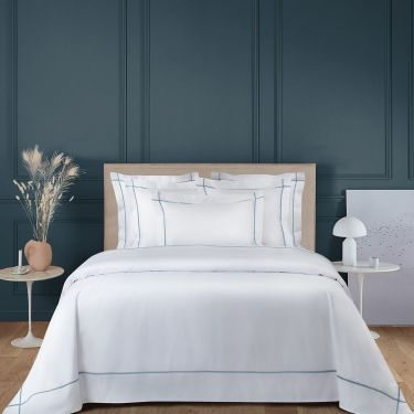 Yves Delorme Athena Horizon Cotton Percale 500 TC Duvet Covers